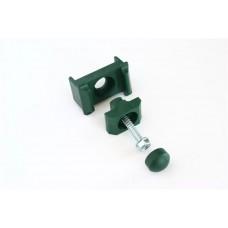 3-osaline plastist kinnitusklamber 40x60 postile, roheline