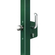 Liugvärava lukk 40 mm raamile, RAL 9005 metallkorpus, alumiiumkäepide (tüüp S)