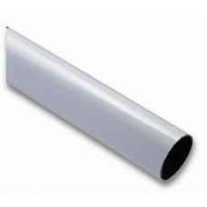 Poom, ümar, alumiinium, valge Ø90x6250 mm