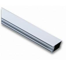 Tõkkepuu poom, alumiiniumist, valge 36 x 73 x 4250 mm