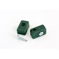 Plastist kinnitusklamber koos isekeermestuva kruviga, roheline, 10 tk/pakk