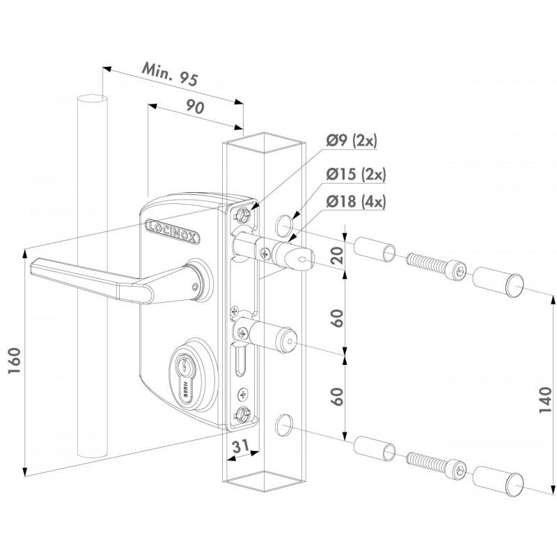 LAKQ installation dimensions